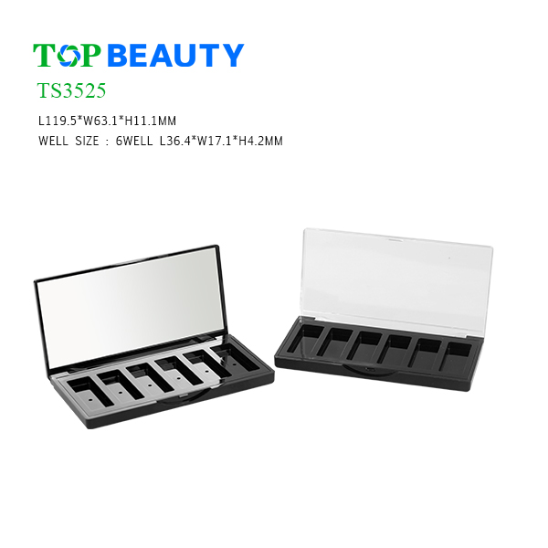 New Rectangle 6 Well Eye shadow Container(TS3525)