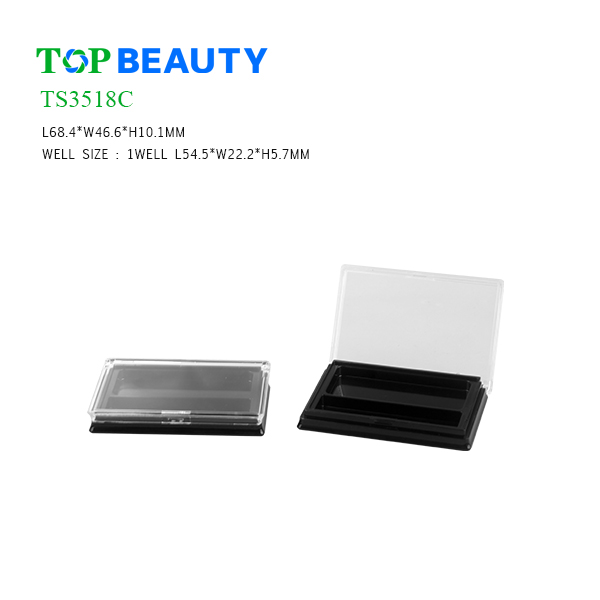 New Single Well Rectangle Eyeshadow Container (TS3518C)