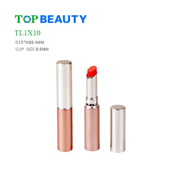 New Slim Round Oblique Opening  Aluminum Lipstick Tube (TL1X10)