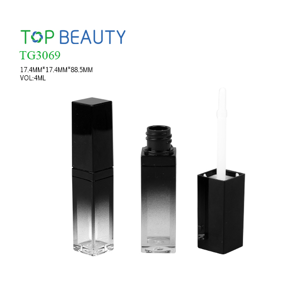 New Square Gradient color Plastic Lipgloss Tube (TG3069)