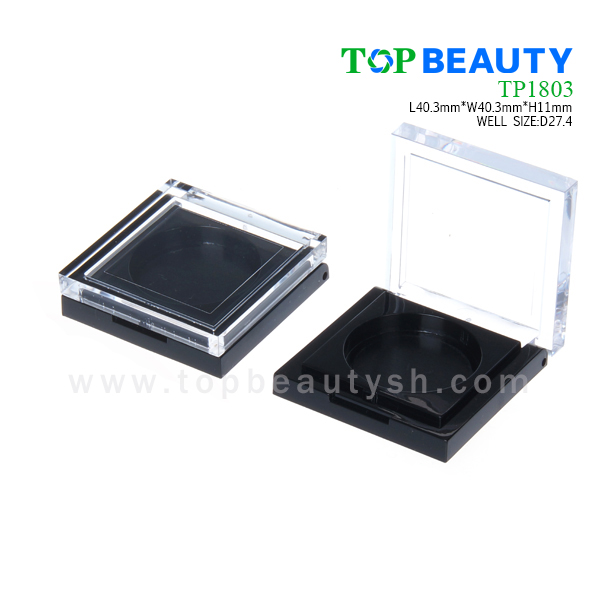 New Square Compact with Round Well Clear Cap(TP1803)