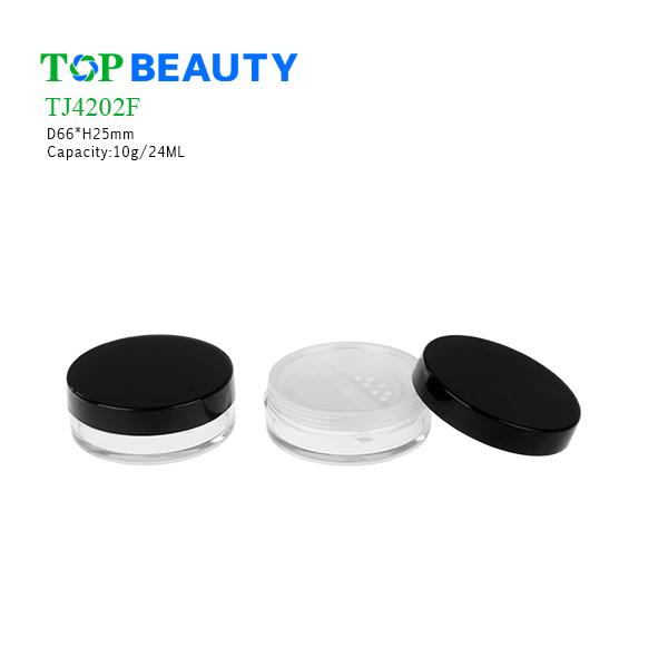New Round Clear Plastic Loose Plwder Jar (TJ4202F)