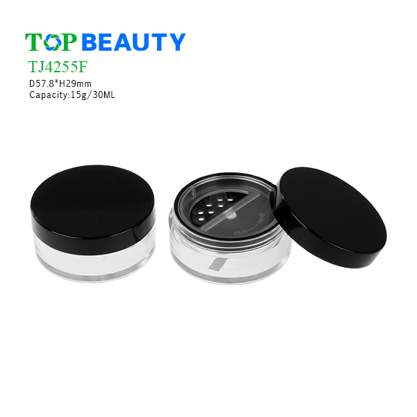 New Round Clear Plastic Loose Powder Jar (TJ4255F)