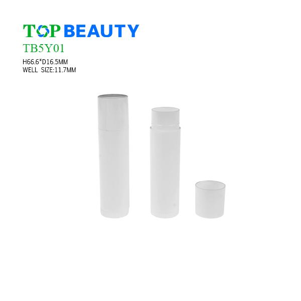 Classic Round Plastic Lip Balm Case (TB5Y01)